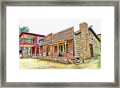 The Old West Framed Print by Jason Abando