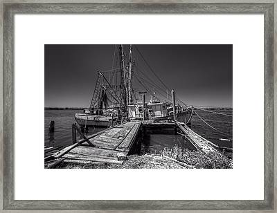 The Old Wharf In Brunswick Framed Print