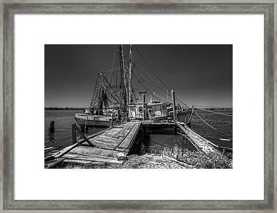 The Old Wharf In Brunswick Framed Print by Debra and Dave Vanderlaan