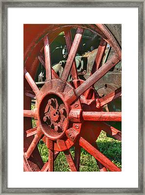 The Old Wheel Framed Print by Michael  Allen