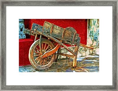 The Old Wheelbarrow Framed Print by Michael Pickett