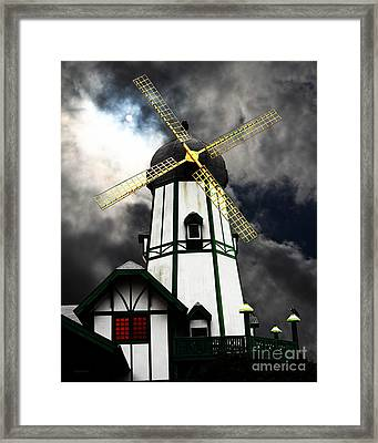 The Old Windmill 5d24398m180 Framed Print