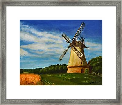 The Old Windmill Framed Print by Gynt Art