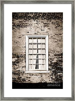 The Old Window Framed Print by Olivier Le Queinec