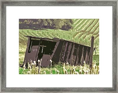 The Old Wine Shed Framed Print by Charlette Miller