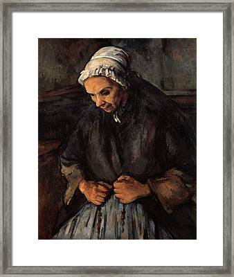 The Old Woman With Rosary Framed Print