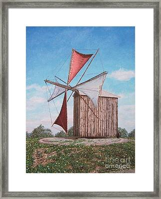 The Old Wood Windmill Framed Print