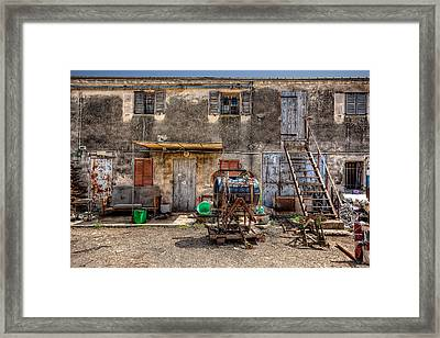 Framed Print featuring the photograph The Old Workshop by Uri Baruch