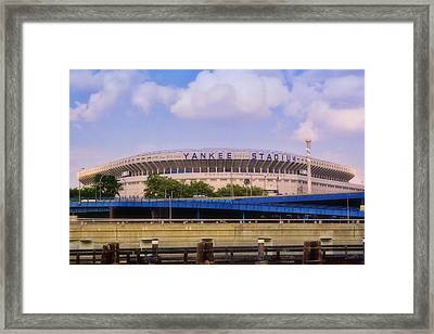 The Old Yankee Stadium Framed Print by Joann Vitali