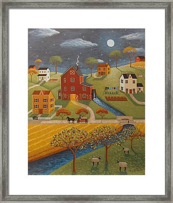 The Olde Red Mill Framed Print