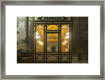 The Oldest Italian Cafe In Piazza San Framed Print