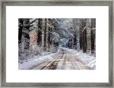 Framed Print featuring the photograph The Oldest Road After The Snow by Constantine Gregory