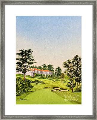 Framed Print featuring the painting The Olympic Golf Club - 18th Hole by Bill Holkham
