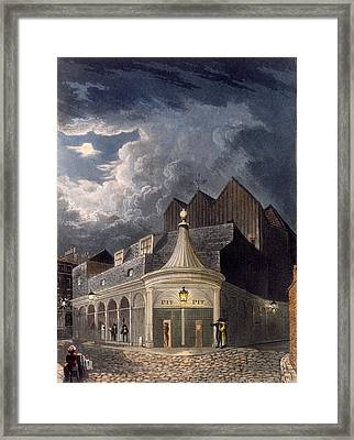The Olympic Theatre, 1826 Framed Print by Daniel Havell