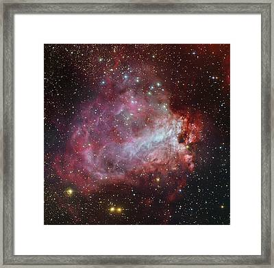 The Omega Nebula In The Constellation Framed Print