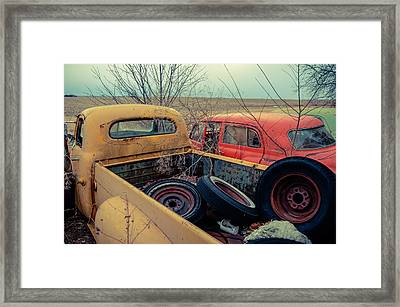 Framed Print featuring the photograph The Once Useful by Brian Bonham