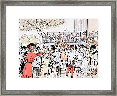 The Oncourse Bookie Framed Print by Thelem