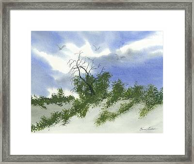 The One Tree Framed Print by Karen  Condron