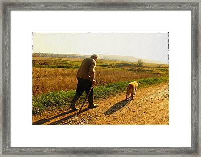The Only Friend Framed Print