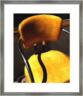 The Only One - Yellow Chair With Shadow Framed Print by Steven Milner