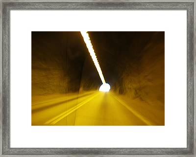The Only Way Out Framed Print