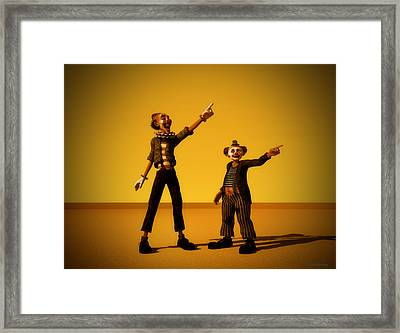 The Only Way Framed Print by Ramon Martinez