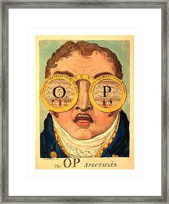 The Op Spectacles, Cruikshank, George, 1792-1878 Framed Print by English School