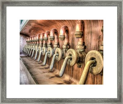 The Beer Valves Framed Print by Nick Mares