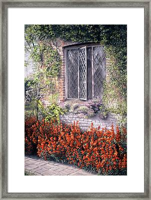 Framed Print featuring the painting The Open Window by Rosemary Colyer
