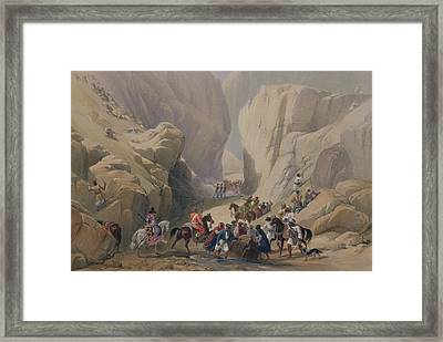 The Opening Into The Narrow Pass Above Framed Print