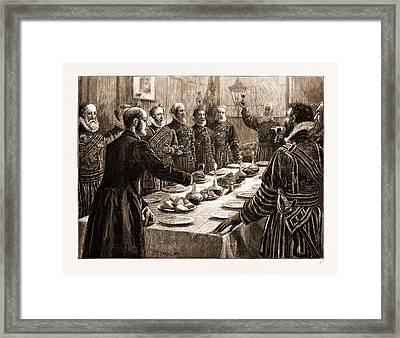 The Opening Of Parliament, Uk Framed Print