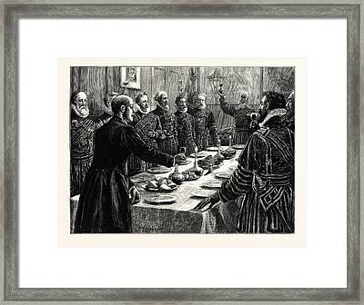 The Opening Of Parliament Yeomen Of Her Majestys Bodyguard Framed Print