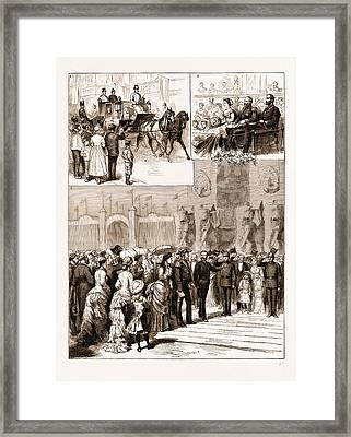 The Opening Of The Amsterdam Exhibition By The King Framed Print