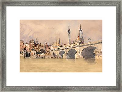 The Opening Of The New London Bridge Framed Print by Mountain Dreams