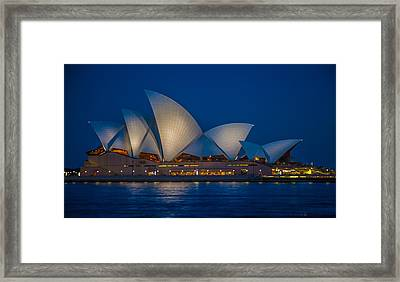 The Opera House Framed Print by Dasmin Niriella