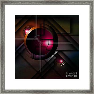 The Operative Word Framed Print