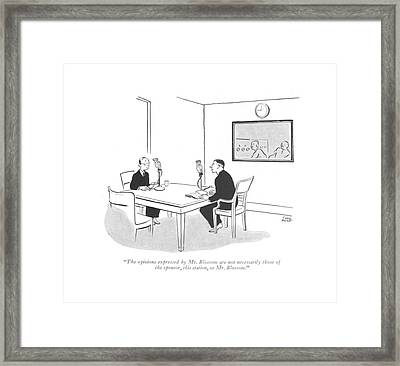 The Opinions Expressed By Mr. Blossom Framed Print by Carl Rose
