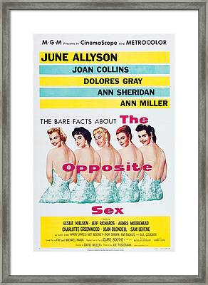 The Opposite Sex, Us Poster Art Framed Print
