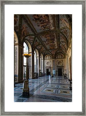 The Opulent Loggia In Villa Farnesina Rome Italy - 1 Framed Print by Georgia Mizuleva