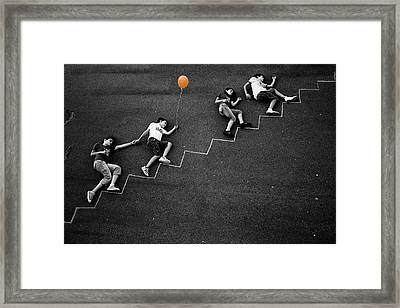The Orange Balloon Framed Print