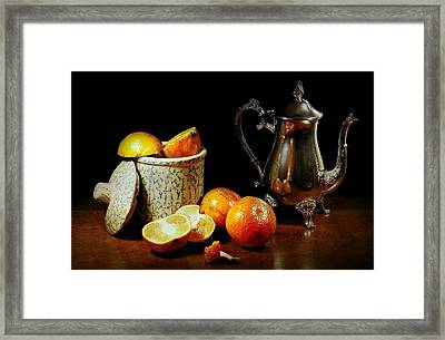 The Orange Bowl Framed Print by Diana Angstadt
