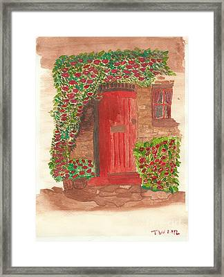 The Orange Door Framed Print by Tracey Williams