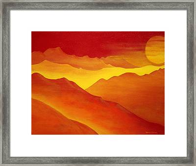 The Orange Mountains Framed Print by Robert Crooker