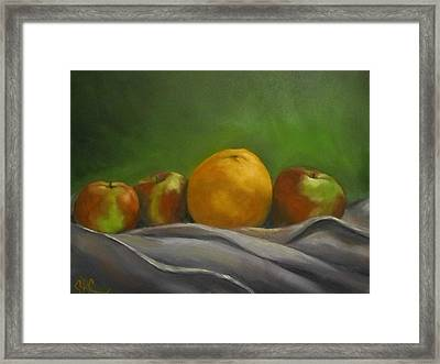 The Orange Framed Print