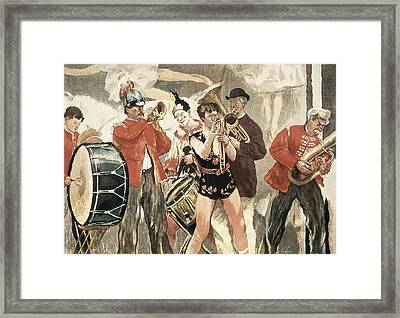 The Orchestra Of The Circus. 1888-1889 Framed Print by Everett