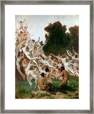The Oreads Framed Print by Adolphe-William Bouguereau