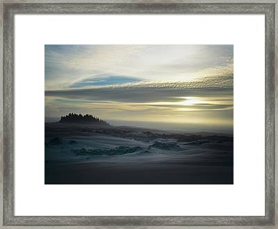The Oregon Coast Has Many Moods Framed Print by Robert L. Potts