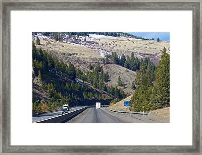 The Oregon Trail At Ladd Canyon Oregon Framed Print by Michael Rogers