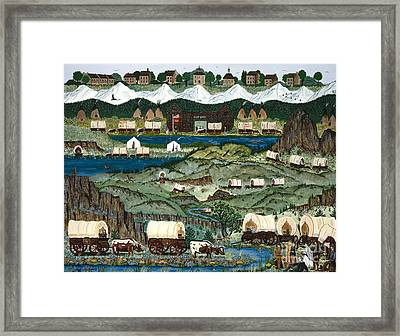 The Oregon Trail Framed Print