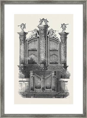 The Organ At St. Jamess Church, Piccadilly Framed Print by English School